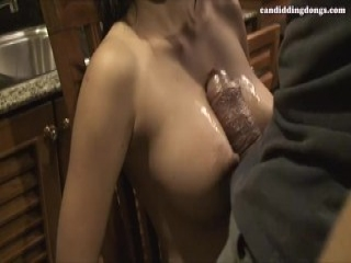 Teen on christmas shows her tits