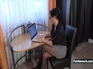 Husband cheats on wife with busty bitch
