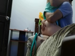 Sexy pregnant huge boobs